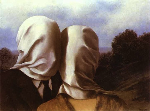 """lovers"" by rene magritte"