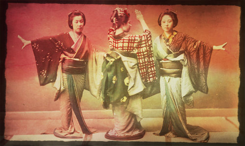 early tourist photo of japanese women