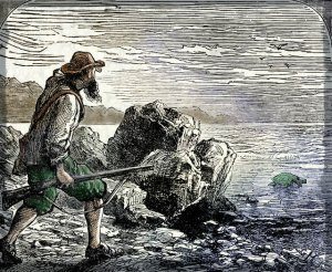 Robinson Crusoe Sees a Turtle