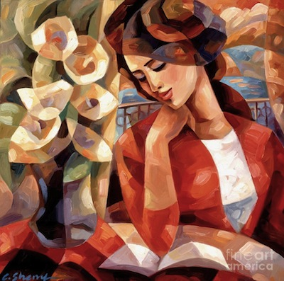 """""""Afternoon Reading"""" by C. Sherry"""