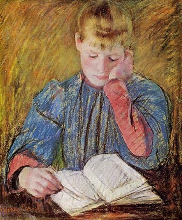"""Boy Reading"" by Susan Macdowell Eakins"