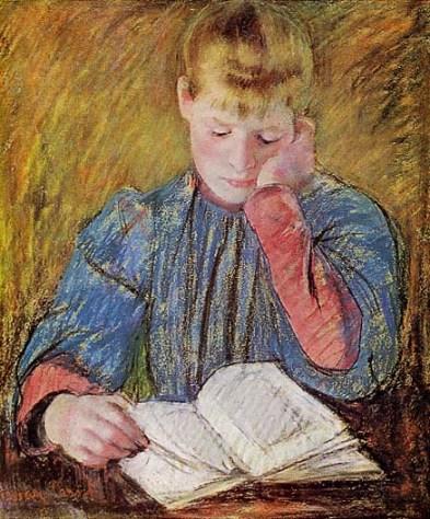 """Boy Reading"" by Susan Macdowell Eakins"