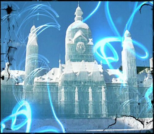 (an ice palace in Russia)