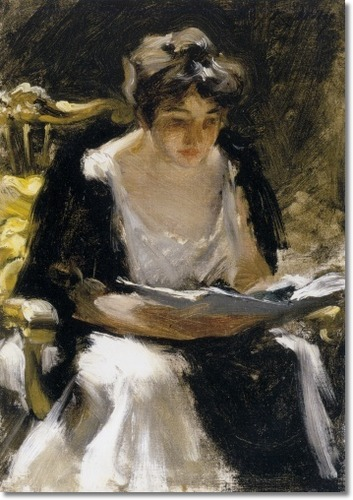 """The Reader"" by Irving Ramsey Wiles"