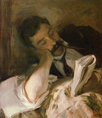 """Man Reading"" by John Singer Sargent"