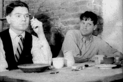 poet James Schuyler (right) with painter Fairfield Porter (left)