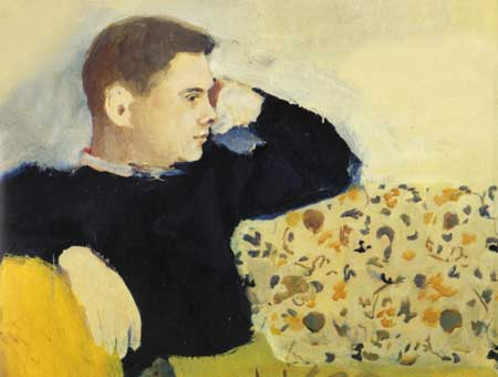 Portrait of James Schuyler, by Fairfield Porter
