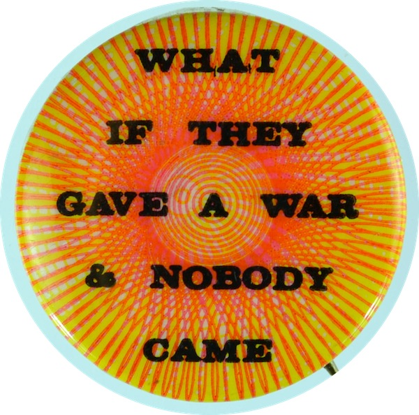 an ant-Vietnam War button