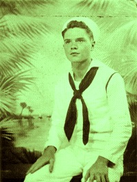 19-year-old James Schuyler at the U.S. Navy's Fleet Sonar School, Key West, 1943