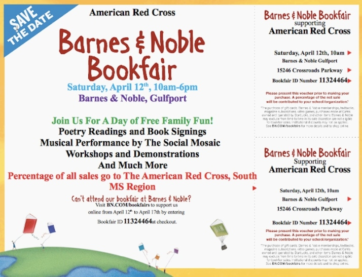 flyer for barnes & noble charity reading