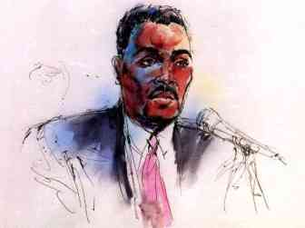 Court room drawing of Rodney King (click for source)