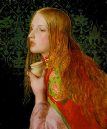Anthony Frederick Augustus Sandys paints Mary Magdalen with red hair.