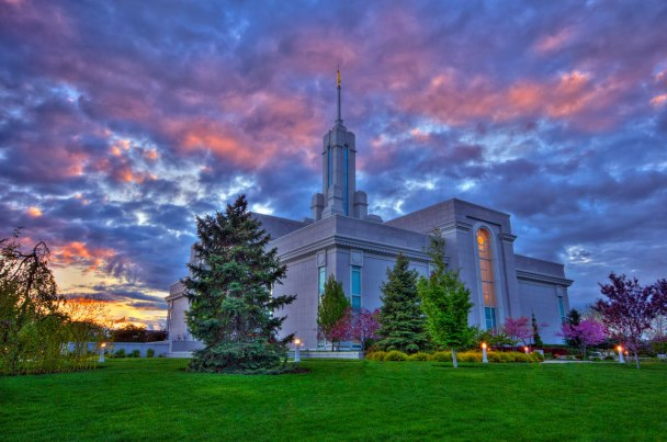 the Mt. Timpanogos Temple, Utah