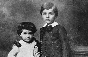 young Einstein with his sister