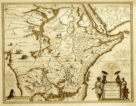 old map of Ethiopia