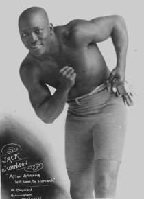 historic photograph of Jack Johnson