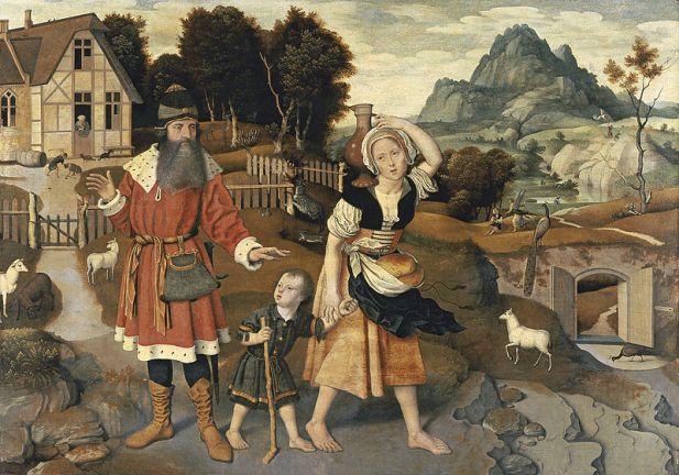 The Banishment of Hagar, painting by Jan Mostaert