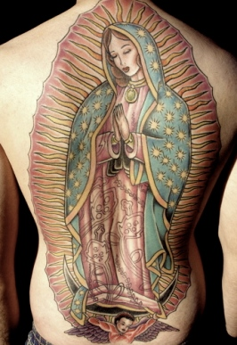 tattoo of the Virgin of Guadalupe