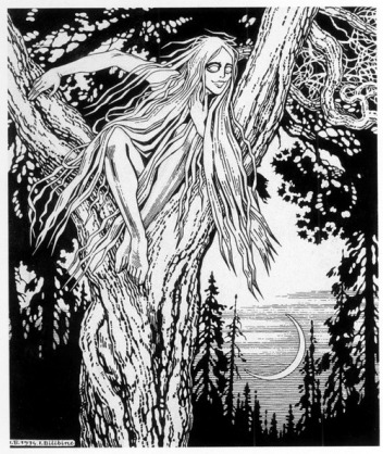 illustration of a Rusalka (Ivan Bilbin, 1934)